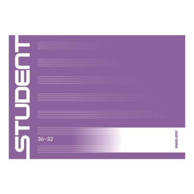 Hangjegyfüzet ICO Student 32 lapos 36-32 fekvő