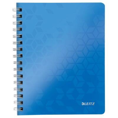 Spirálfüzet LEITZ Wow A/5 80 lapos kockás kék