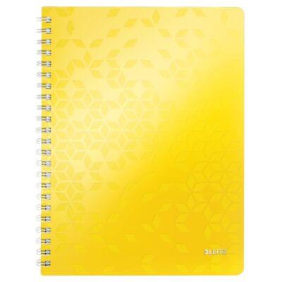 Spirálfüzet LEITZ Wow A/4 80 lapos vonalas sárga