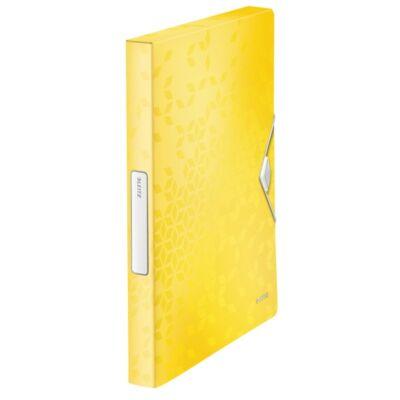 Gumis mappa LEITZ Wow Jumbo A/4 műanyag 30mm sárga