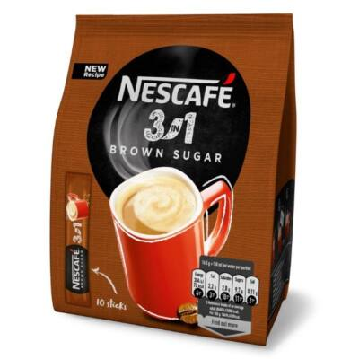 Kávé instant NESCAFE 3in1 barna cukorral 10x16,5g