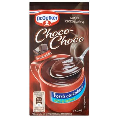 Forrócsokoládé instant DR OETKER Choco-Choco étcsokoládés 32g