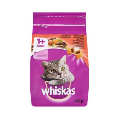 Állateledel száraz WHISKAS macskáknak marhahússal 300g