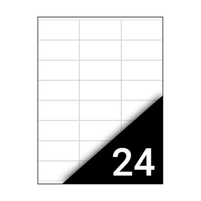 Etikett FORTUNA 64,6x33,8mm univerzális 2400 címke/doboz 100 ív/doboz