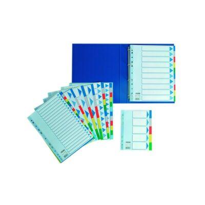 Regiszter ESSELTE műanyag A/4 12 részes
