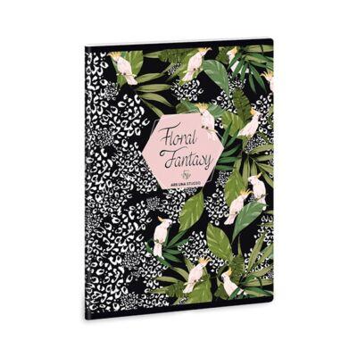 Füzet ARS UNA A/5 40 lapos Extra kockás Floral Kakadu