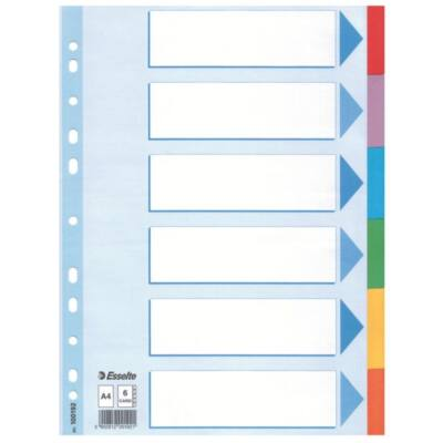 Regiszter ESSELTE Standard A/4 karton 6 részes