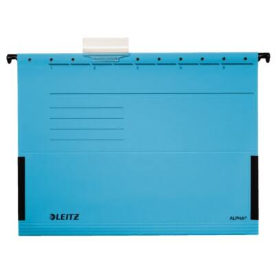 Függőmappa oldalvédelemmel LEITZ Alpha Standard A/4 karton kék 25 db/doboz