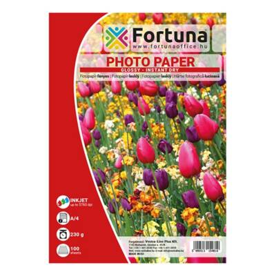 Fotópapír FORTUNA A/4 inkjet fényes 230 gr 100 ív/csomag