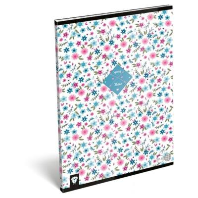 Füzet LIZZY CARD A/4 32 lapos kockás 87-32 Flower white