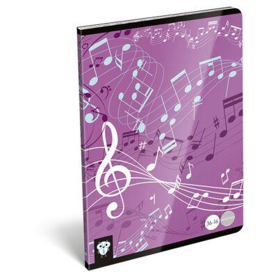 Hangjegyfüzet LIZZY CARD A/5 Purple 16 lapos