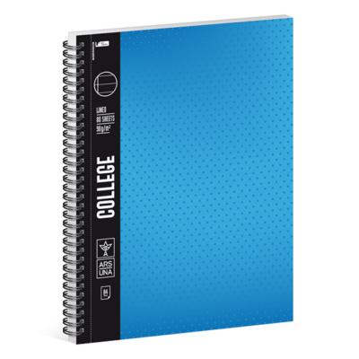 Spirálfüzet ARS UNA College A/4 80 lapos vonalas kék