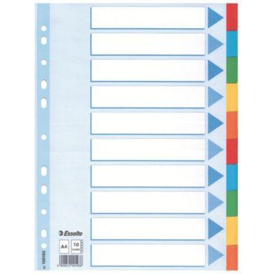 Regiszter ESSELTE Standard A/4 karton 10 részes