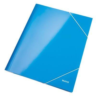 Gumis mappa LEITZ metálfényű kék