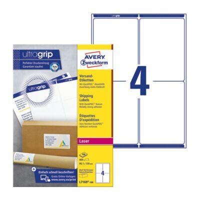 Etikett AVERY L7169-100 99,1x139mm univerzális 400 címke/doboz 100 ív/doboz