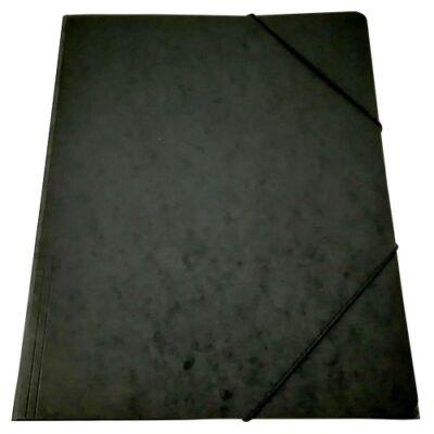 Gumis mappa A/4 prespán fekete 345gr