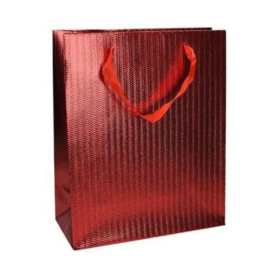 Ajándéktasak Eco Classic Plus M 18x23x10 elegáns vörös