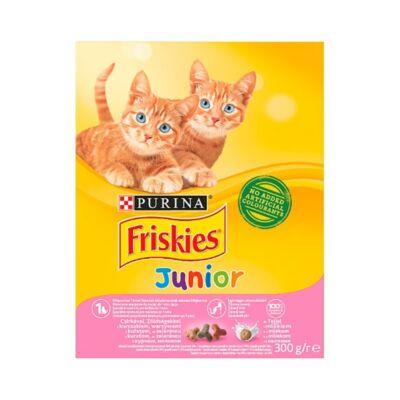 Állateledel száraz PURINA Friskies Junior macskáknak csirkével, zöldségkkel és tejjel 300g