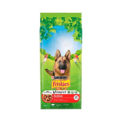 Állateledel száraz PURINA Friskies Vitafit Active kutyáknak marhahússal 3kg