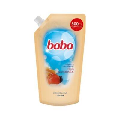 Folyékony szappan utántöltő BABA tej és gyümölcsillat 500 ml