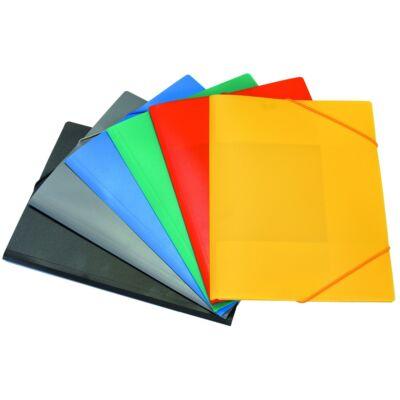 Gumis mappa A/4 műanyag sárga