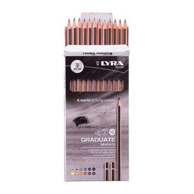 Grafitceruza LYRA Graduate 4H-6B hatszögletű környezetbarát 12 db/készlet