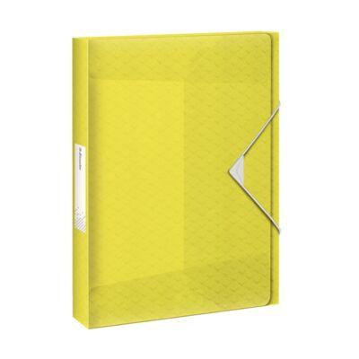 Gumis mappa ESSELTE Colour`Ice Jumbo A/4 25mm PP sárga