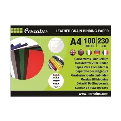 Hátlap CERRATUS A/4 230 gr bőrhatású kék