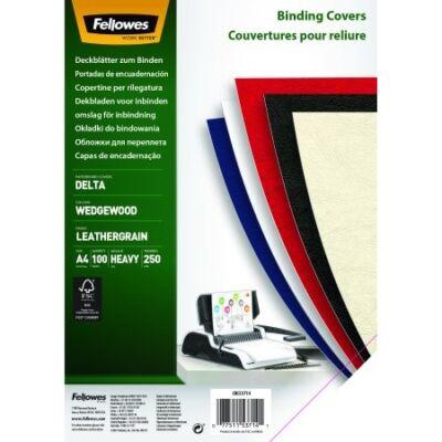 Hátlap FELLOWES Delta A/4 250g matt bőrhatású világoskék 100/csom