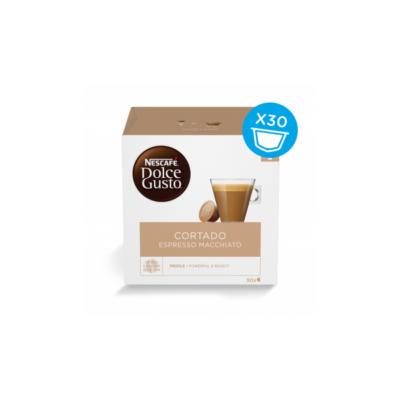 Kávékapszula NESCAFE Dolce Gusto Cortado Espresso Macchiato 16 db