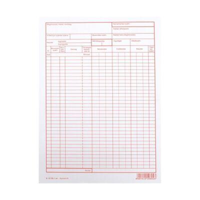 Nyomtatvány raktári nyilvántartó karton A/4