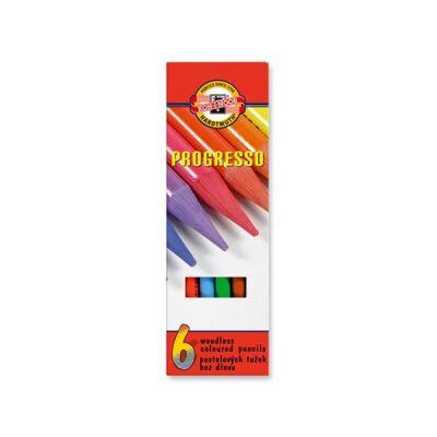 Színes ceruza KOH-I-NOOR 8755 Progresso hengeres 6 db/készlet