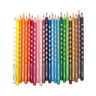 Színes ceruza LYRA Groove Slim háromszögletű vékony arany
